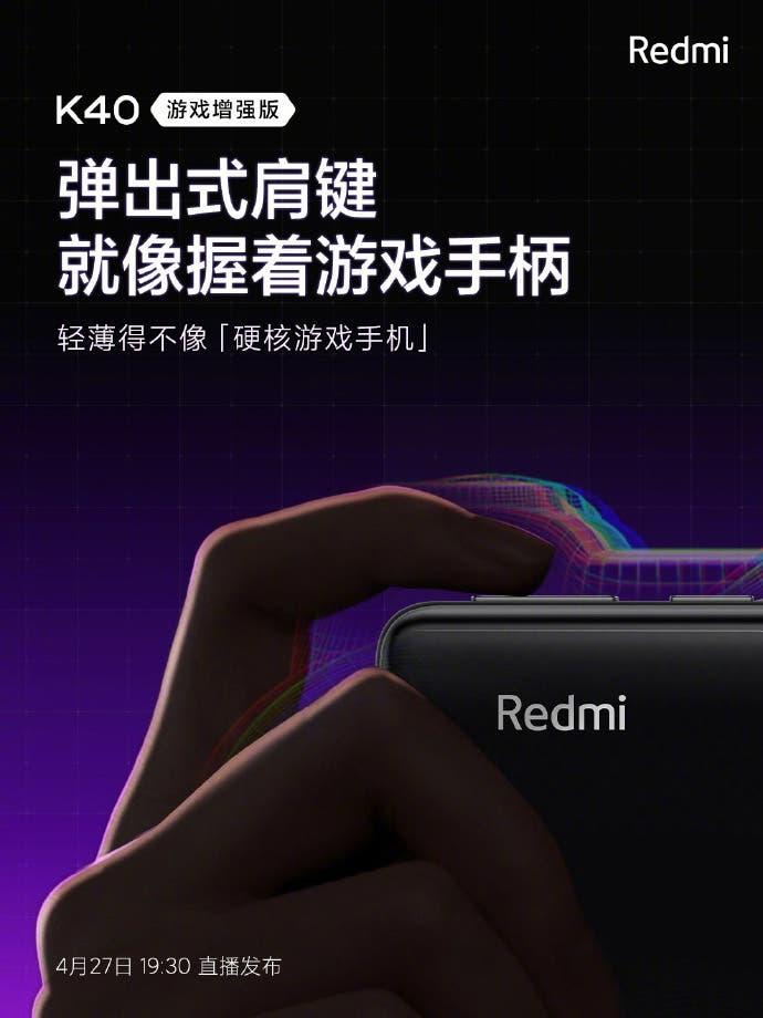 Versión para juegos Redmi K40