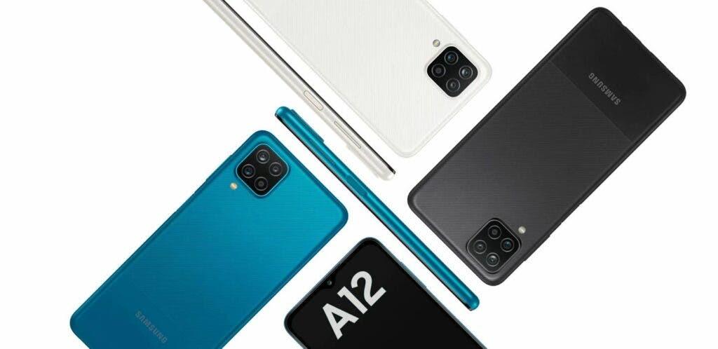Opciones de color del Samsung Galaxy A12