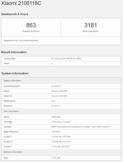 El Xiaomi Mi MIX 4 Snapdragon 888+ aplasta al SD888 en GeekBench