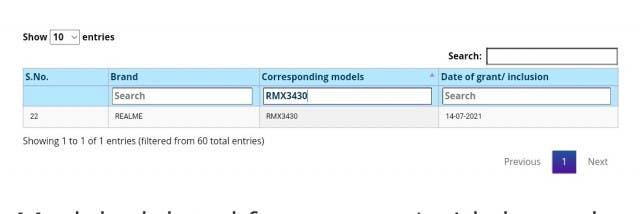 Los detalles de la cámara Realme Narzo 50A aparecen en línea: recibe varios certificados