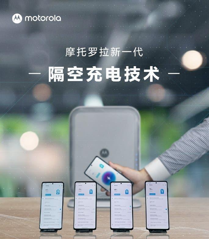 Motorola presenta su tecnología de carga de aire