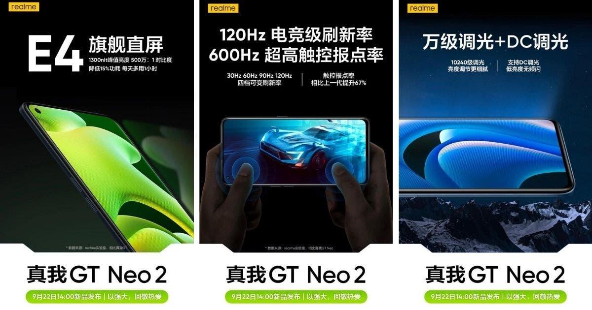 Realme GT Neo 2 obtiene una pantalla casi insignia