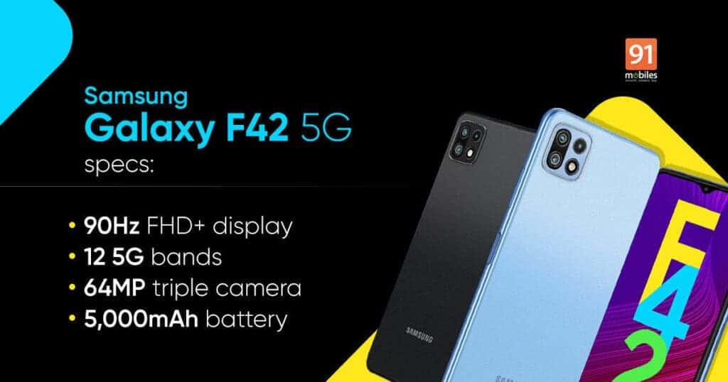 Especificaciones del Samsung Galaxy F42 5G
