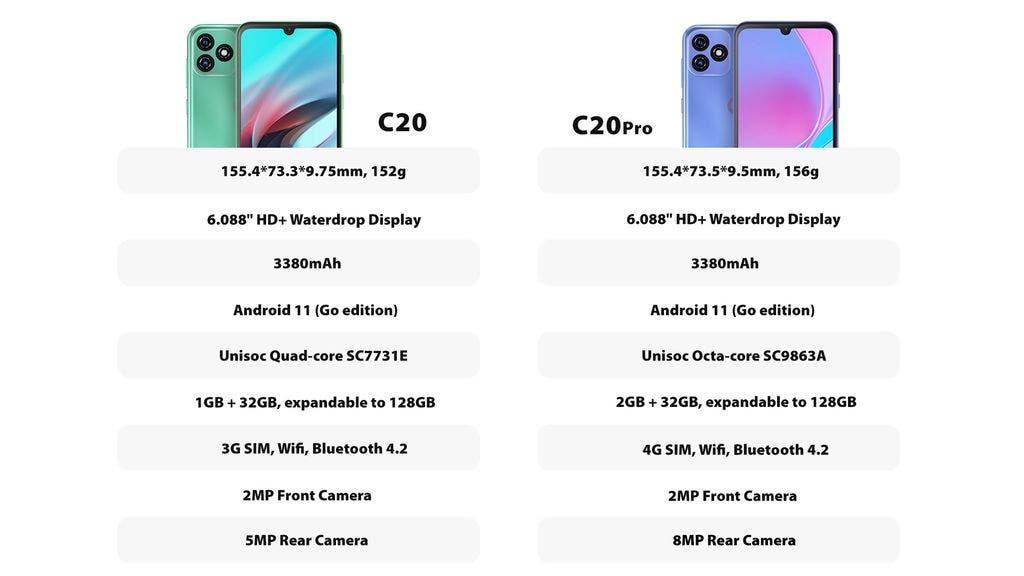 OSCAL presenta el nuevo y asequible smartphone 4G Android 11 C20 Pro
